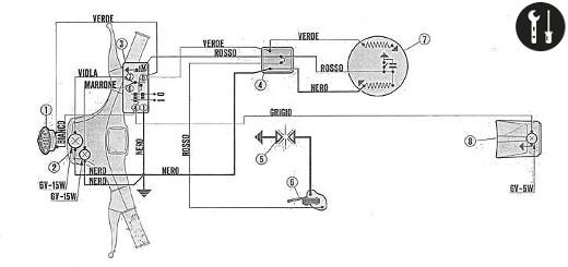 Schema elettrico vespa 50 special